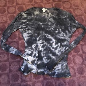 Forever21 Tie Dye LS Sheer Shirt Size XS